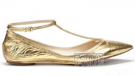 Золотистые балетки Зара