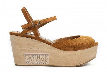 Босоножки Zara на деревянной платформе