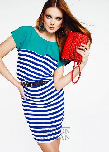 платье в полоску Mango весна-лето 2011