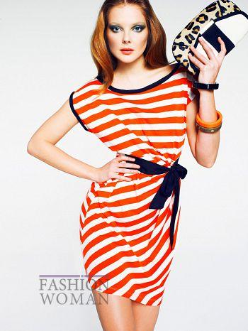 Полосатое платье от Манго лето 2011