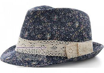 Шляпа с цветочным принтом