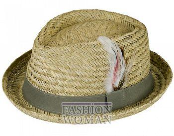 Соломенная шляпа-федора лето 2011