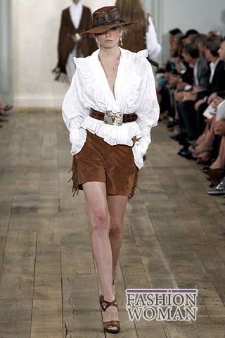 Замшевые шорты с бахромой от  Ralph Lauren