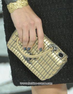 модный серый маникюр 2011