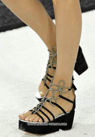 обувь на платформе от Шанель