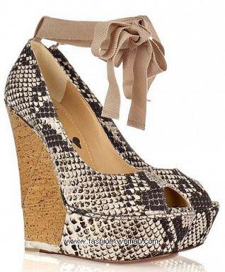 Модные туфли на платформе весна-лето 2011