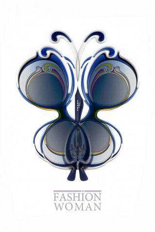 Солнцезащитные очки бабочки от  Prada
