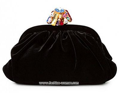 Бархатная вечерняя сумочка от Dolce&Gabbana