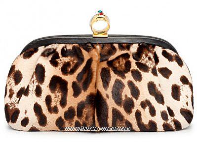 Сумка-кошелек с леопардовым принтом от Dolce&Gabbana