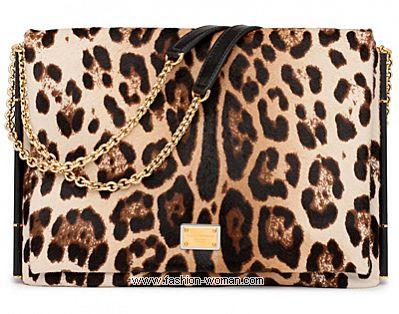 Сумка с хищным принтом от Dolce&Gabbana
