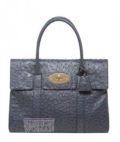 Классическая сумка из кожи страуса