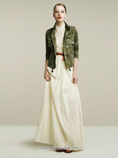 Макси юбка Zara весна-лето 2011