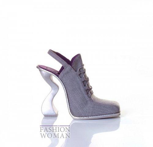 туфли на оригинальном каблуке