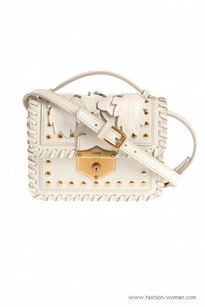 модная белая сумка от Alexander McQueen весна-лето 2011