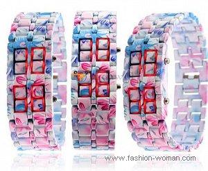 модные бинарные часы