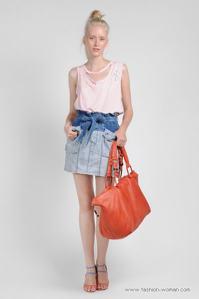 Модная джинсовая юбка  Diesel весна-лето 2011