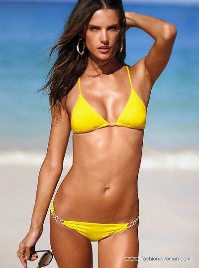 модный желтый купальник от Виктория Сикрет