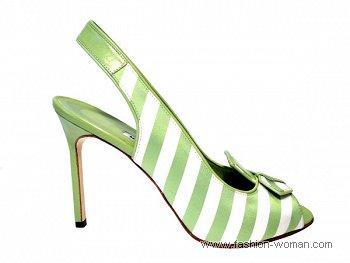 туфли в полоску от Manolo Blahnik весна-лето 2011