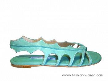 модные сандалии Manolo Blahnik фото