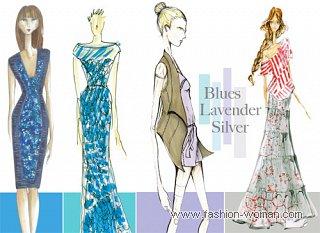 палитра модных цветов весна-лето 2011