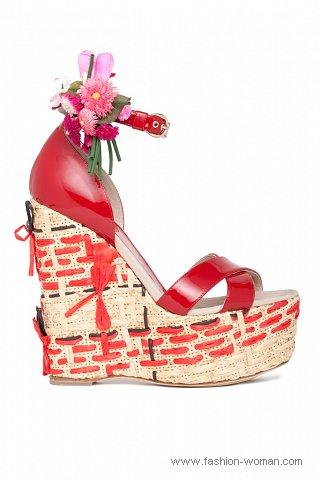 модная обувь на платформе D&G весна-лето 2011