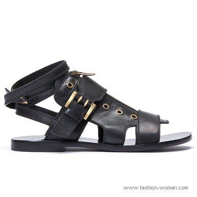летняя обувь на плоской подошве