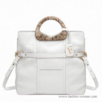 белая сумка от Furla весна-лето 2011