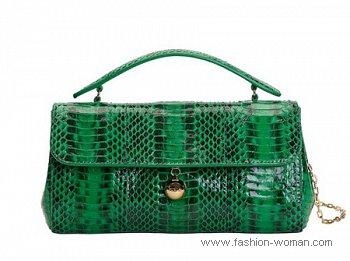 модная зеленая сумка Furla