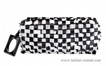 черно-белая сумка Furla