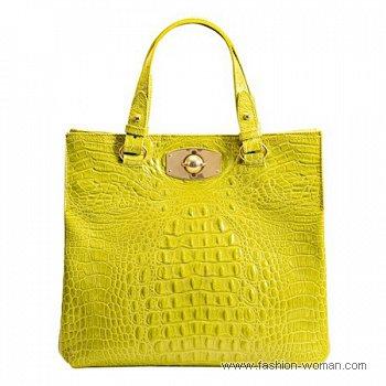 Ярко желтая сумка Furla
