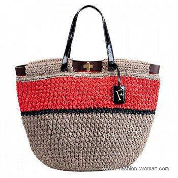 летняя плетеная сумка Furla лето 2011