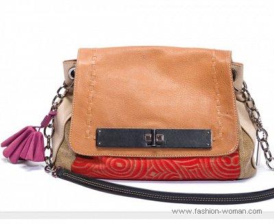 сумка из комбинированной кожи