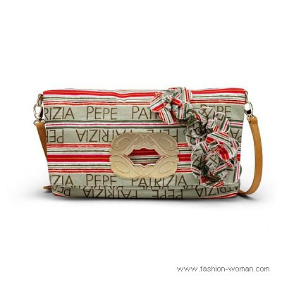 модная сумка из текстиля от Patrizia Pepe