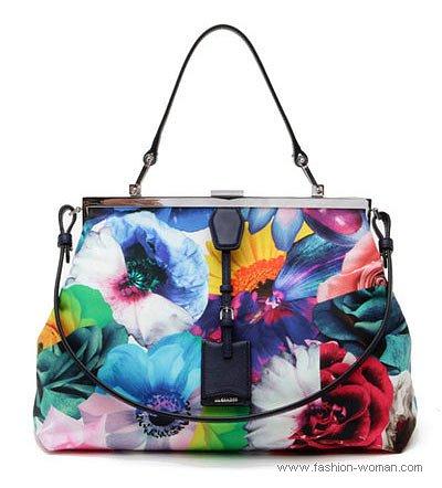 яркая сумка от Jil Sander