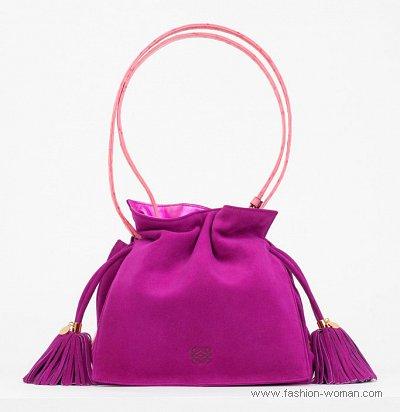 модная сумка-мешок от Loewe