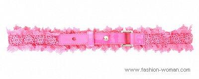 розовый ремень от Нины Риччи