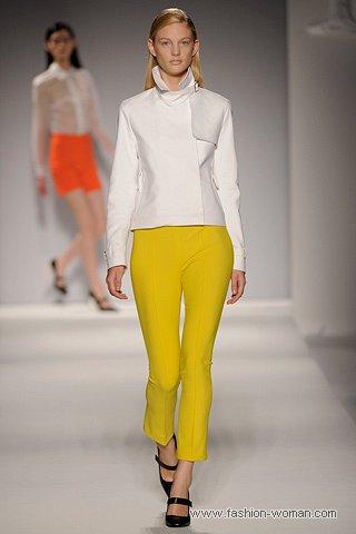 Модные желтые брюки