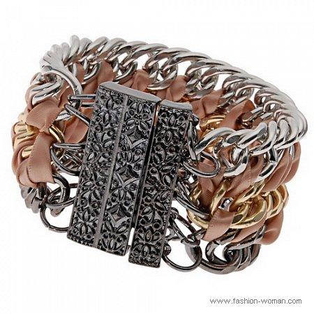 стильный браслет с цепями