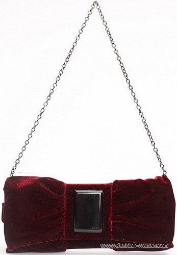 Бархатная сумка от Parfois осень-зима 2010-2011