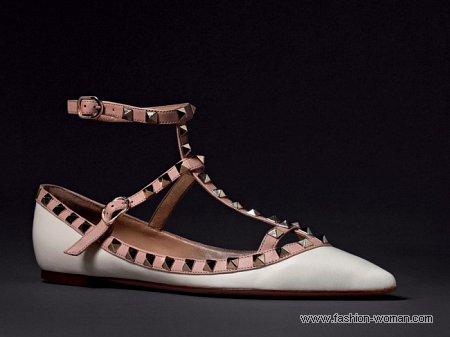 туфли без каблука от Валентино осень-зима 2010-2011