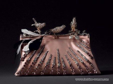 шелковая сумка с кристаллами от Валентино