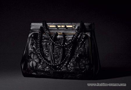 черная сумка от Валентино осень-зима 2010-2011
