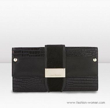 черный кошелек от  Jimmy Choo осень-зима 2010-2011