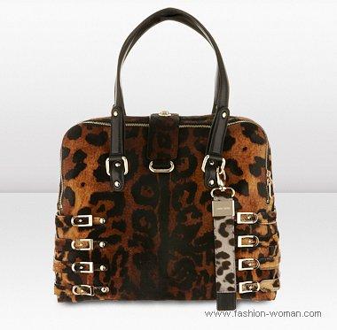 сумка с леопардовым принтом фото