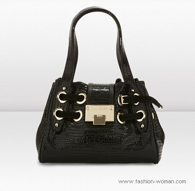 классическая черная сумка от Джимми Чу