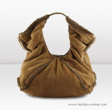сумка из дубленой кожи