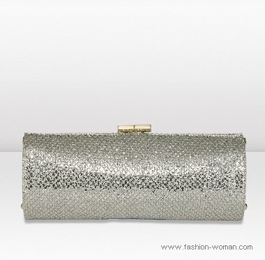 серебристый клатч из коллекции jimmy-choo осень-зима 2010-2011