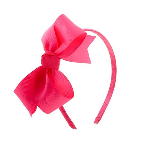 ободок с розовым бантом
