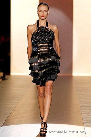 Модное коктейльное платье с бахромой