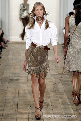 Модная юбка с бахромой от Ralph Lauren